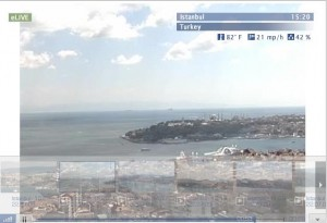 Real Time streaming webcam views in Istanbul, Turkey