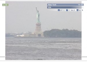 Live New York webcam overlooking the Statue of Liberty in NYC